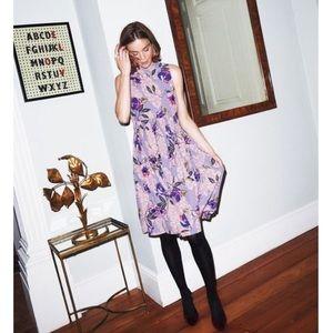 Boden Chic Full Skirted High Neck Floral Dress